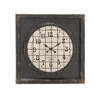 Benzara Grand, Cool And Matchless Metal Wall Clock