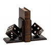 Benzara Distinctive Wood Dice Bookend Polyresin