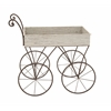 Benzara Simply Cute Wood Metal Handcart