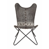Benzara Ingenious In Conception Metal Stitched Chair