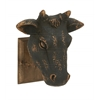 Benzara Artistically Crafted Wood Wall Cow Head