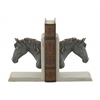 "Benzara Attractive Wood Ps Bookend Pr 7""W, 8""H"