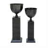 Elite Metal Planter, Dark Taupe, Set Of 2