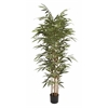 "Natural Polyethylene Potted Bamboo Tree 38""W, 70""H"