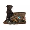 Benzara Beautiful Styled Polystone Dog Planter