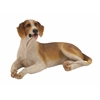 Benzara Yellow And White Shaded Polystone Dog