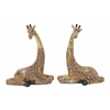"Benzara Pretty Polystyrene Giraffe 2 Assorted 7""W, 9""H"