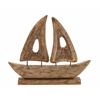 "Benzara Striking Wood Large Ship 23""W, 19""H"