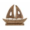 """Benzara Striking Wood Large Ship 23""""W, 19""""H"""