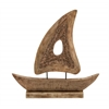 Benzara Stylish Wood Small Ship