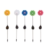 Benzara The Flowery Metal Solar Garden Stake 5 Assorted