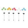 Benzara The Delightful Metal Solar Garden Stake 5 Assorted