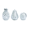 Benzara Shiny Silver Finished Attractive Polystone Silver Fruit Set