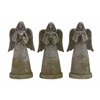 Benzara The Holy Polystone Garden Angel 3 Assorted
