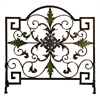 Benzara Metal Fire Screen Best Room Divider Screen