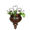 Benzara Metal Wall Planter Rare To Find Elsewhere Utility- Decor