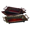 Benzara Metal Tray Set Of 3 To Serve In Style