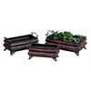 Benzara Metal Planter Set Of 3 For Gardening Enthusiasts