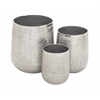 Benzara Breathtaking Aluminum Planter Set Of 3