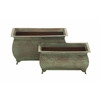 Benzara Unique And Distinctive Metal Planter Set Of 2