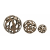Benzara Classic Aluminum Decorative Ball Set Of 3
