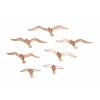 Cool In Brown Aluminum Bird Decorative Set Of 7
