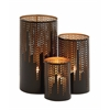 Benzara Uniquely Distinct Metal Candle Holder Set Of 3