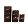 Benzara Style Quotient Metal Candle Lantern Set Of 3