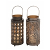 Benzara Beautiful Metal Candle Lantern 2 Assorted