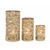 Benzara Contemporary Styled Set Of Three Metal Candle Holder