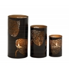 Adorably Styled Set Of Three Metal Candle Holder
