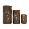 Benzara Ravishing Set Of Three Metal Candle Holders