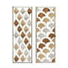 23465 Admirable Metal Wall Panel 2 Assorted, Multicolor