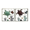 Attractive Metal Wall Decor 2 Assorted, Multicolor