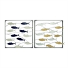 Outstanding Metal Wall Decor 2 Assorted, Multicolor