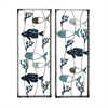 Excellent Metal Wall Decor 2 Assorted, Multicolor