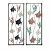 Metal Wall Decor 2 Assorted, Multicolor