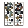 Captivating Metal Wall Decor 2 Assorted, Multicolor