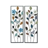 Beautiful Metal Wall Decor 2 Assorted, Multicolor