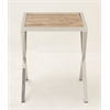 "Modern Stainless Steel Wood Accent Table 18""W, 22""H"