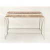 "Charismatic Set Of Two Stainless Steel Wood Console Table 52"", 55""W"