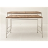 """Durable Set Of Two Stainless Steel Wood Console Table 51"""", 57""""W"""