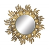 """Benzara Shimmering Wood Carved Wall Mirrors 46""""W, 46""""H"""