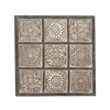 "Creatively Designed Wood Wall Panel 36""W, 36""H"