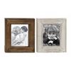 Benzara Striking Wood Photo Frame 2 Assorted