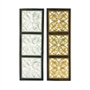 Classy Wood Metal Foil Panel 2 Assorted, Silver, Gold, Black