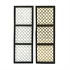 Exclusive Wood Metal Foil Panel 2 Assorted, Silver, Gold, Black