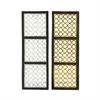 Elite Wood Metal Foil Panel 2 Assorted, Silver, Gold, Black