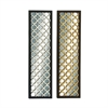 Striking Wood Metal Mirror Panel 2 Assorted, Silver, Gold, Black