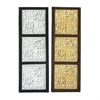 Excellent Wood Mirror Panel 2 Assorted, Black, Silver, Gold